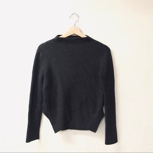Zara Knit Dark Gray Small ribbed Sweater
